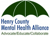May be an image of text that says 'Henry County Mental Health Alliance Advocate/Educate/Collaborate Collaborate'